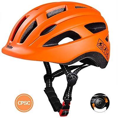 TurboSke Toddler Bike Helmet, CPSC Certified Multi-Sport Adjustable Helmet for Kids Boys and Girls Age 3-5 (Orange)