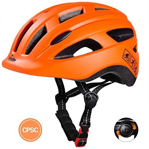 TurboSke Toddler Bike Helmet CPSC Certified MultiSport Adjustable Helmet for Kids Boys and Girls Age 35 Orange