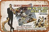 THE FRST JAMES BOND FILM007セクシービューティー5さびた錫のサインヴィンテージアルミニウムプラークアートポスター装飾面白い鉄の絵の個性安全標識警告バースクールカフェガレージの寝室に適しています