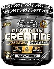 مسحوق بلاتينيوم كرياتين الصافي من ماسل تك، بدون نكهة، 14.11 اونصة (400 غرام)