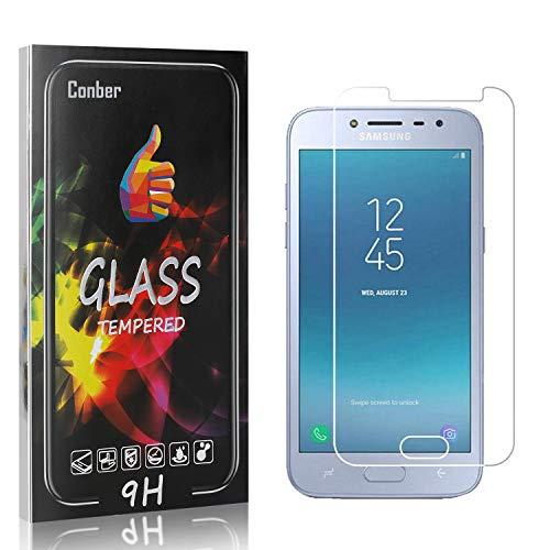 Conber [4 Pièces] Verre Trempé pour Samsung Galaxy J2 Pro 2018, Compatible avec Coques, Dureté 9H vitre de Protection, Film Protection Ecran pour Samsung Galaxy J2 Pro 2018