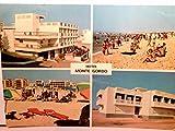 Hotel Monte Gordo / Residencia Monte Gordo. Algarve Portugal. Alte Mehrbild AK farbig. 2 x Gebäudeansichten, 2 x Strandpanorama