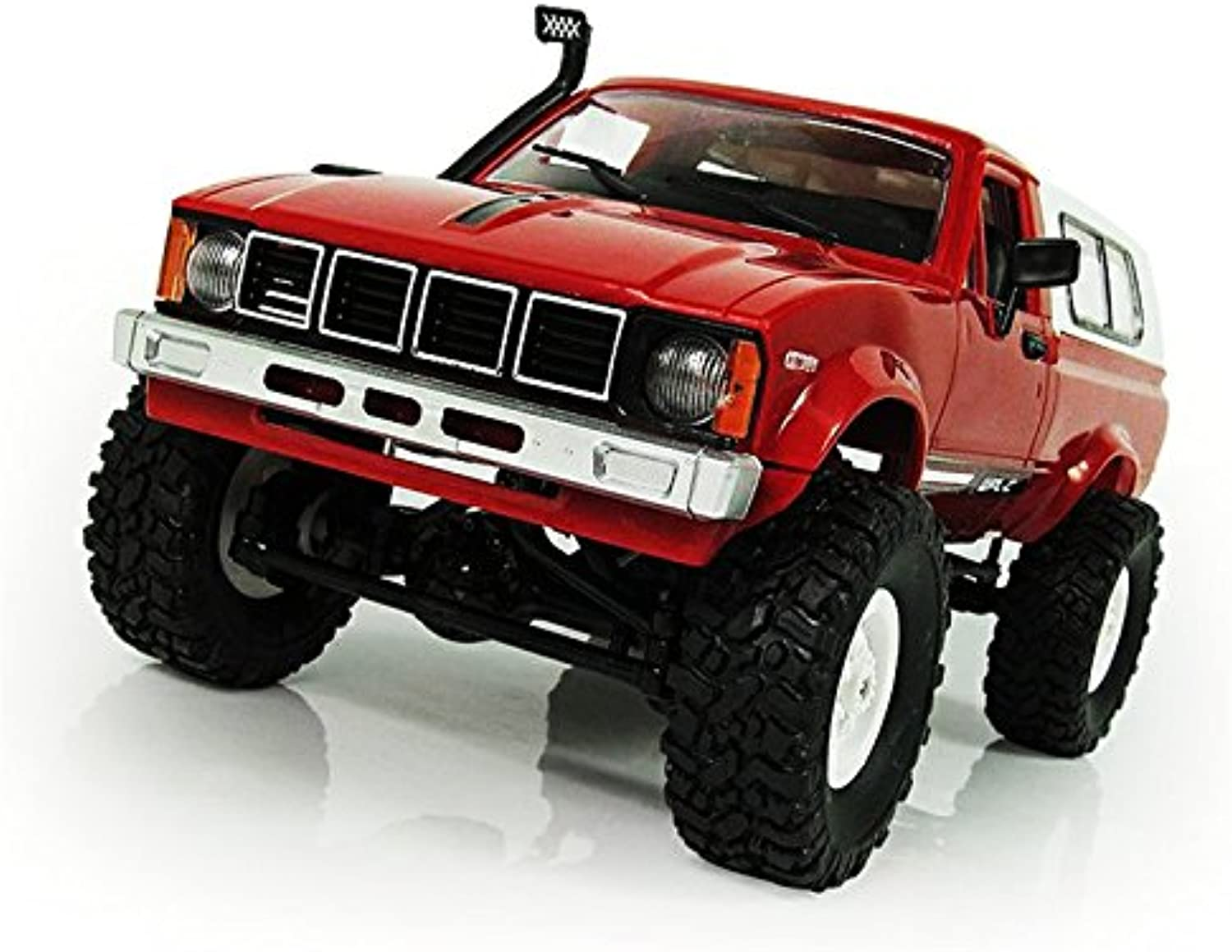 SODIAL WPL C-24 1 16 Scale RC Car Rock Crawler 4WD Off-Road Military Truck Best Toy Red