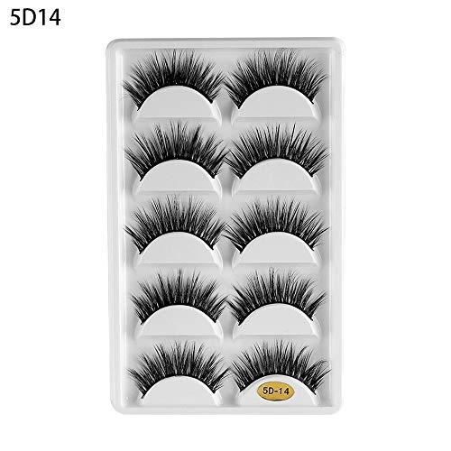 5 Paar Eye Make-up Wijsheid Pluizige Natuurlijke Lange Resuable Valse Wimpers Eye Lashes Extension Dikke Cross 3D Faux Mink Haar 5D14