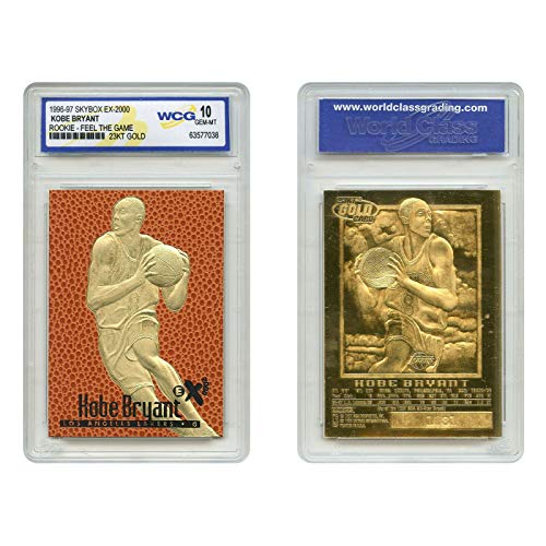 Kobe Bryant 1996-97 SKYBOX EX-2000 Rookie Card 23K Gold WCG GEM MT 10! Lakers Legend!