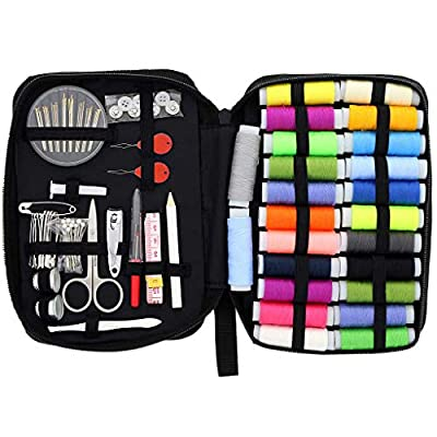 Sewing Kit for Traveler Adults Beginner Emergency DIY Sewing Supplies Organizer Filled with Scissors Thimble Thread Sewing Needles Tape Measure etc