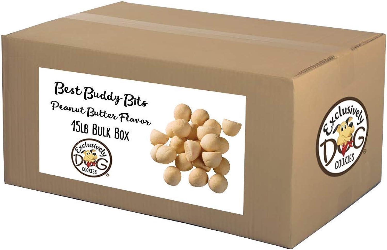 Exclusively Dog Best Buddy BitsPeanut Butter Flavor, 15Pound Box