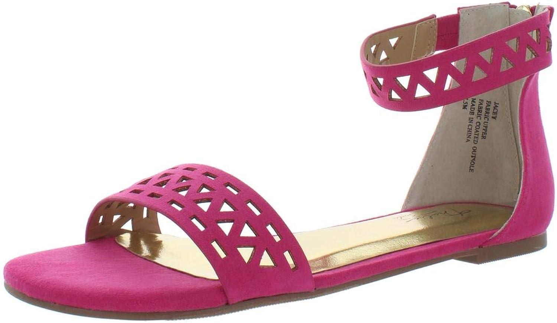 Thalia Sodi Womens Jacey 2 Microfiber Geometric Flat Sandals