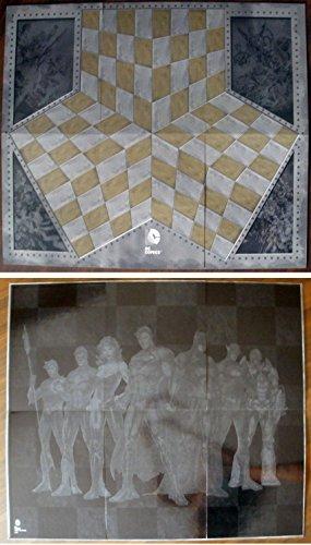 Tablero de ajedrez para la colección DC realizado en cartón 83x71 cms
