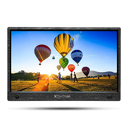XElectron 12 inch IPS Digital Photo Frame with Motion Sensor, 1080P Resolution, Plays Images, Video & Music, USB/SD Card Slot, with Remote (Black)