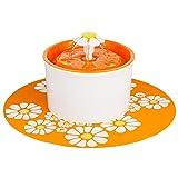 DFIHEI Flower Sytle Automatische elektrische 1.6 l Pet Wasser Brunnen Hund / Katze Trinken , orange