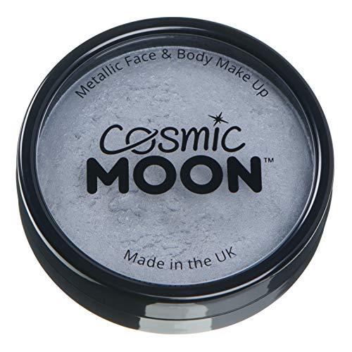Cosmic Moon - Peinture professionnelle métallique pour visage activée à l'eau - Argent