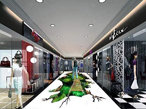 Floor/Wall Stickers Vinyl Art Living Room Decoration Decalscustom Fussboden Folie Dreidimensionales 3D-Bodengemälde Des Magischen Fantasiewaldweges Im Einkaufszentrum-400 * 280Cm