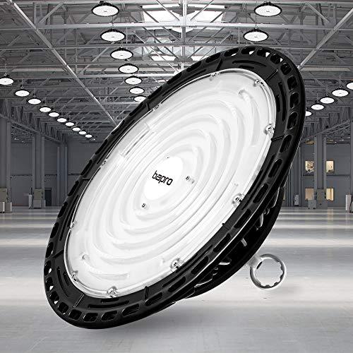 300W UFO LED Lámpara Alta Bahía, bapro Delgada 30000LM Lámpara Industrial, IP65 Focos Led Interior Techo 6500K,Led Iluminación Comercial Leds Floodlight para Fábricas, Aeropuerto, Patio, Restaurante