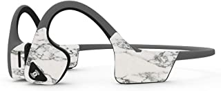 MightySkins Skin Compatible with Aftershokz Trekz Air Wireless - White Marble   Protective, Durable, and Unique Vinyl Deca...