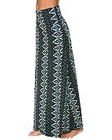 EXCHIC Women's Bohemian Style Print Long Maxi Skirt (XL, 2)