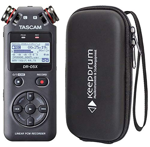 Tascam DR-05X Audio-Recorder + Tasche Soft-Case