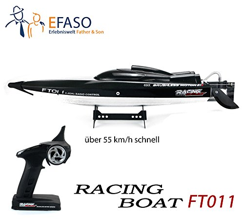 efaso ft011–RC Brushless Racing Boot Feilun–2.4GHz 4canali Motoscafo da Competizione con Scafo 65cm Lunghezza