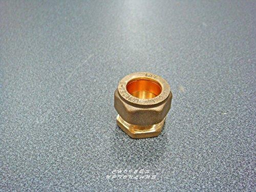 cuivr/é EQUAL TEE SIZE: 22MM Laiton AK Raccord de compression en/T /égal en laiton 15/mm//22/mm