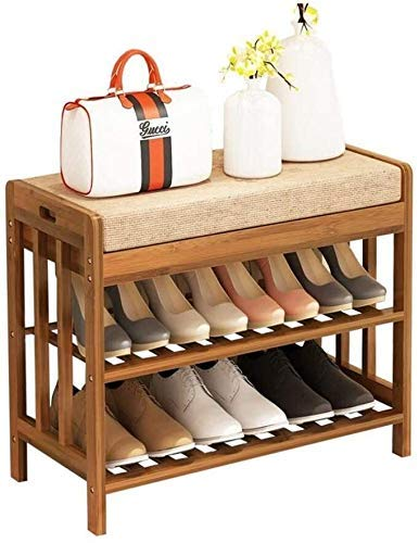 CXVBVNGHDF Zapatero, 2 Niveles Banco de Almacenamiento de Zapatos Zapatero Soporte de Madera apilable para 8-12 Pares, Ahorro de Espacio, fácil Montaje (tamaño: 70 * 30 * 50 cm)