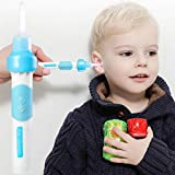 Electric Earwax Removal Tools for Kids Vacuum Ear Cleaners Soft Silicone Automatic Earwax Removal Kits with LED Light Powerful Suction for Easy Cleaning Let Your Girl No Longer Refuses to Dig Ear Wax