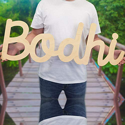 """Custom Personalized Wooden Name Sign 12-55"""" WIDE - Bodhi Font Letters Baby Name Plaque PAINTED nursery name nursery decor wooden wall art, above a crib"""
