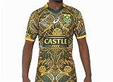 HBRE Maillot De Rugby Afrique du Sud,Coupe du Monde 2019,Maillot du 100 èMe Anniversaire,T-Shirt Imprimé,Football Respirant,T-Shirt Formation des Adultes,Top Uniformes De Football,XL