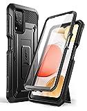 SUPCASE Outdoor Hülle für Samsung Galaxy A12 4G Handyhülle Bumper Hülle 360 Grad Schutzhülle Cover [Unicorn Beetle Pro] mit Integriertem Bildschirmschutz 2020 Ausgabe (Schwarz)