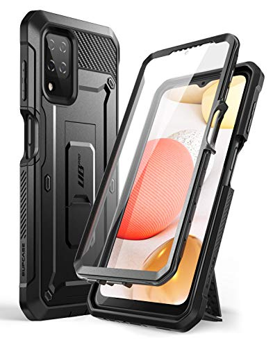 SUPCASE Outdoor Hülle für Samsung Galaxy A12 4G Handyhülle Bumper Case 360 Grad Schutzhülle Cover [Unicorn Beetle Pro] mit Integriertem Displayschutz 2020 Ausgabe (Schwarz)
