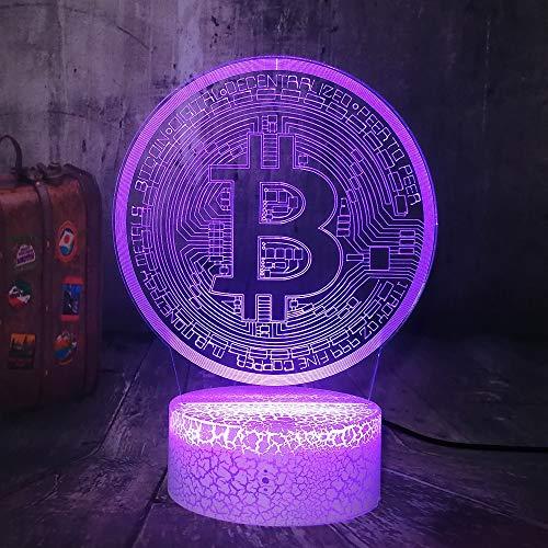 Spiel Bitcoin USB 3D LED Nachtlicht USB Tischlampe Kinder Geburtstagsgeschenk Nachtzimmer Dekoration