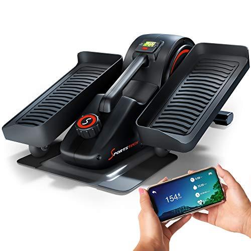SPORTSTECH Mini Heimtrainer mit App | Stepper für Bewegung im Büro & Zuhause |Smarter Crosstrainer für Arbeitsplatz & Gesundheit | kein höhenverstellbarer Tisch notwendig | DFX70 Minibike Pedaltrainer