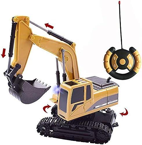 SFSDKJFGSD Kanal-voller Funktionsfernsteuerungsbagger-BAU-Traktor, Bagger-Spielzeug mit übermittler 2.4Ghz und Metallschaufel
