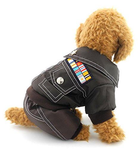 Ranphy Piccolo Cane Gatto Camo Tuta Doggie Militare Giacca in Pile Foderato Cappotto Invernale all di Tuta, Run Small, Take The Next Up Dimensioni Si Prega di