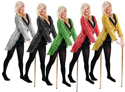 I LOVE FANCY DRESS LTD Damen ROTE Pailletten SCHWANZMANTEL KOSTÜM KOSTÜM ZUBEHÖR Tanz Show BLASS ROTEN SCHWANZMANTEL Unisex Outfit (Large EU 46/50)