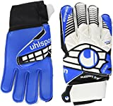 uhlsport Kinder Handschuhe ELIMINATOR SOFT SF JUNIOR, weiß/Schwarz/energy blau, 4.5