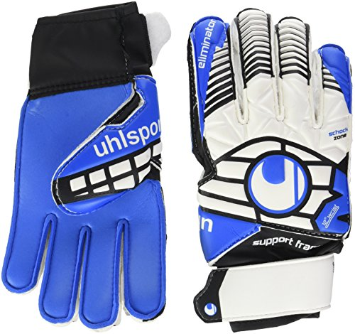 uhlsport Kinder Handschuhe ELIMINATOR SOFT SF JUNIOR, weiß/Schwarz/energy blau, 4.5