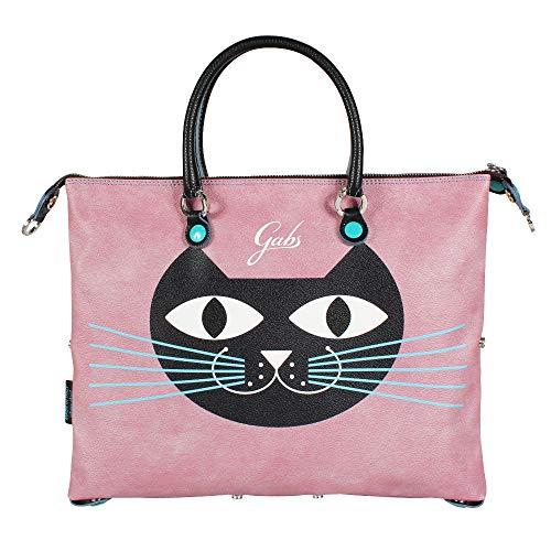 Gabs Damen Handtasche Transformable G3 Plus Print Cat rosa