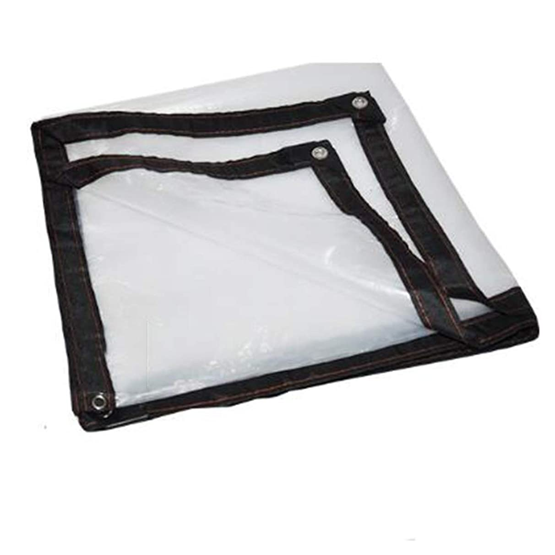 Shade Net/Sunscreen Tarpaulin Waterproof Transparent Gardening Rainproof Cloth Window Seal Keep Warm, Multiple Sizes Available, WenMing Yue, Clear, 5x5M