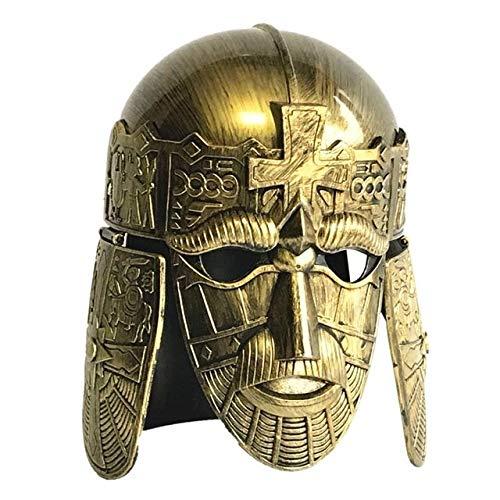 WSJDE Celebración Creativa Cos Masquerade Ball Casco Romano Cuerno de Toro Sombrero...