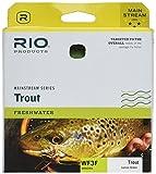 RIO Products Fliegenschnur fr Forellen, Mainstream, Unisex-Erwachsene, Fly Line, Zitronengrn, 3 Weight