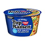 NOODLE GOODNESS TO GO! Enjoy the Top Ramen you know and love anytime, anywhere. MICROWAVABLE IN THREE MINUTES! No pot needed! THREE CUSTOMIZABLE FLAVORS with additional veggie and flavor sauce pouches included—teriyaki for Chicken, garlic for Shrimp ...
