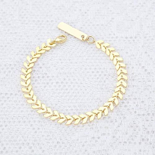 Bracelet Nouvelles Dames Accessoires Chaîne Simple Chaîne À Main Métal Flèche Réglable Bracelets Femmes Bijoux De Mode Or