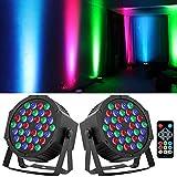 YeeSite Luces de escenario de 36 LED, RGB DJ LED, control remoto y DMX, luces de auto activadas por sonido para bodas, fiestas de cumpleaños, iluminación de escenario – 4 unidades