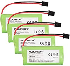Floureon 4 Packs 2.4V 900mAh Rechargeable Cordless Phone Telephone batteries for Uniden BT-1021 BT1021 BT-1008 BT-1016