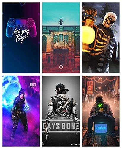 SEMI-Circle Gaming Room Wall Poster for Gamers-Combo of 6(Multi_Size_12x18 inch_Paper)