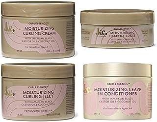 Keracare Hair Product Curl-Essence Moisturizing Bundle Combo Set (JELLY&CREAM&CONDITIONER&EDGE-GEL)