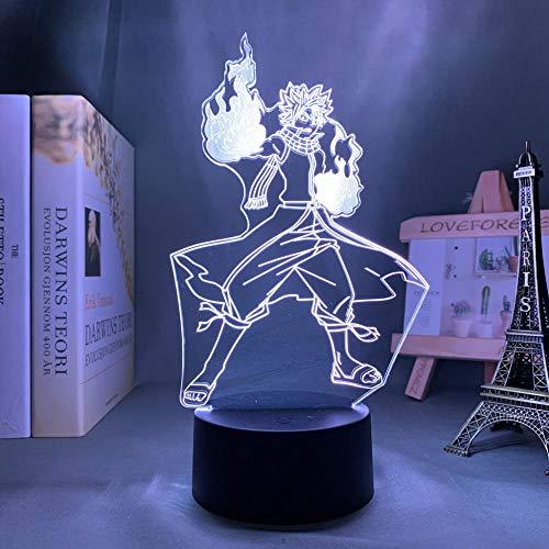 ZMSY - Lámpara de noche 3D con diseño de anime de hada, luz LED decorativa para dormitorio, luz nocturna infantil, regalo de cumpleaños, manga