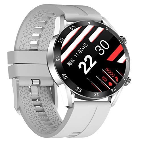 YYZ SmartWatch Bluetooth Fitnes Tracker Ritmo cardíaco táctil Completo Reloj Inteligente Pulsera Inteligente con Monitor de Temperatura Corporal,A
