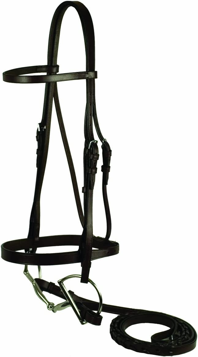 GATSBY LEATHER COMPANY Low price 102-H Horse half Snaffle Flat Bridle