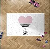 Oedim - Alfombra Infantil Corazón para Habitaciones PVC | 95 x 95 cm | Moqueta PVC | Suelo vinílico | Decoración del Hogar | Suelo Sintasol | Suelo de Protección Infantil |